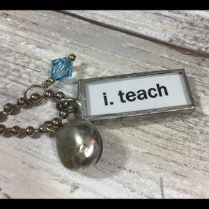 Jewelry - Silver ball necklace I teach music